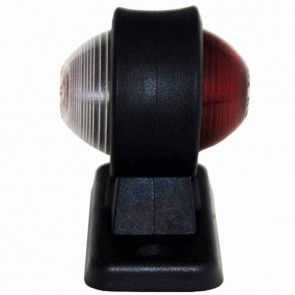 Lamp lateraal rood / wit - L: 45mm, H: 90mm