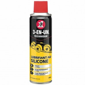 Siliconen smeermiddel spray 250 ml - 3 - in - 1