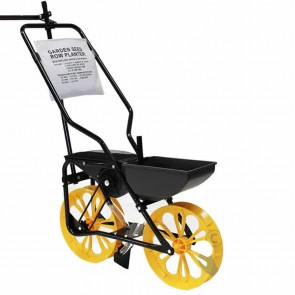 Garden Seeder – max cap 2,7 Kg – 2 tandem hopper for seeds and fertilizers – 6 seed plates – reversible row marker – variable planting depth